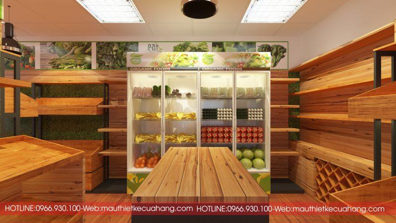 Nội thất của cửa hàng rau sạch